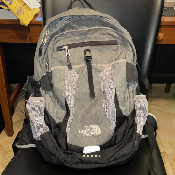 Grey Northface Recon backpack